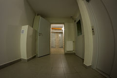 Basement corridor Royalty Free Stock Photos