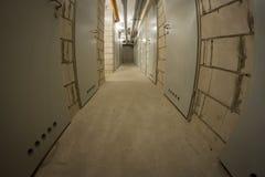 Basement corridor Royalty Free Stock Photography