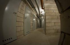 Basement corridor Stock Image