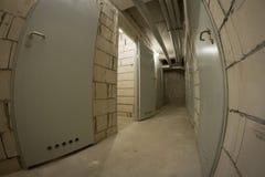 Basement corridor Stock Photography