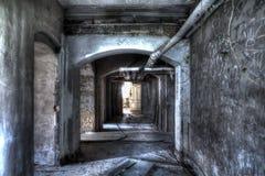 Basement corridor Stock Images