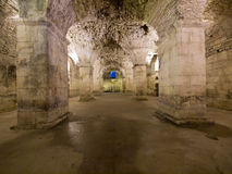 Basement of the Diocletian's Palace in Split. The lower floor of the great roman emperor Diocletian's Palace in Split, Croatia, listed by UNESCO Stock Photography