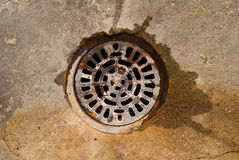 Basement Drain Stock Image