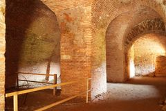 The basement of the Fagaras fortress , Brasov, Romania Royalty Free Stock Image