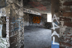Basement Graffiti Royalty Free Stock Photography