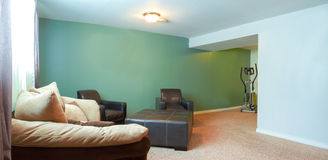 Basement Interior design Stock Photo
