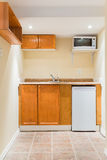 Basement Kitchen Interior Design Royalty Free Stock Photo