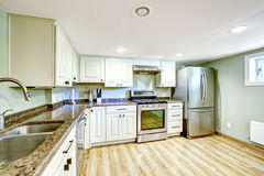 Basement kitchen room. Mother-in-law apartment Royalty Free Stock Image