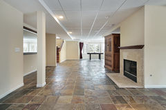 Basement in luxury home. With stone floor Royalty Free Stock Photography