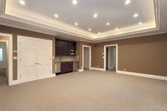 Basement in new construction home Stock Photo