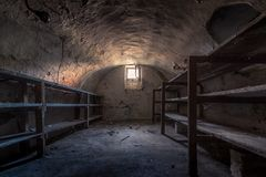 Basement. Of an old farm in Heythuysen Royalty Free Stock Photo