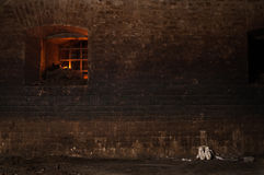 Basement old fortress. Room in the basement of an old fortress royalty free stock image