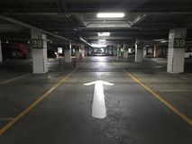 Basement parking Royalty Free Stock Photo