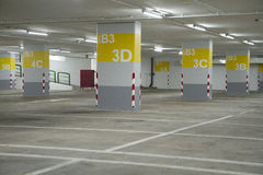 Basement parking. With park lane Royalty Free Stock Image