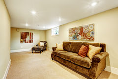 Basement room interior Royalty Free Stock Images