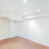 Basement room interior design Stock Photo