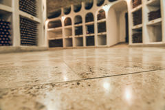 Basement storage for wine. Royalty Free Stock Photography