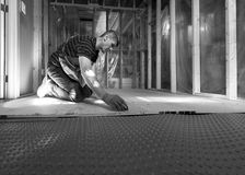 Basement Subfloor Installation Royalty Free Stock Photo