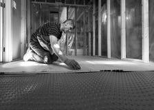 Basement Subfloor Installation Royalty Free Stock Photo