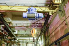 Basement of a water pumping station. Abandoned post-apocalyptic Royalty Free Stock Photo