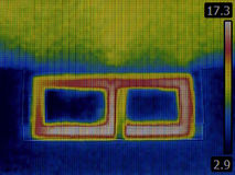 Basement Window Infrared Stock Image