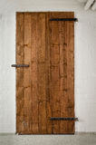 Basement wooden door Stock Photography
