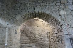 Basements of the old fortress. royalty free stock image