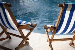 Basenów krzesła Obrazy Royalty Free