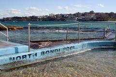 basen bondi na plaży Fotografia Stock