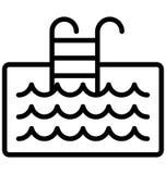 Basen, drabiny Odizolowywał Wektorową ikonę która może łatwo redaguje lub modyfikująca ilustracji