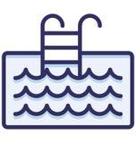 Basen, drabiny Odizolowywał Wektorową ikonę która może łatwo redaguje lub modyfikująca ilustracja wektor