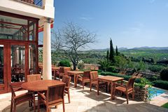 basen hotelowy krajobrazu wieśniaka luksusowy opływa Fotografia Stock