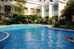 basen hotelowy opływa Obrazy Stock