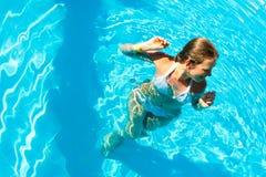 basen kobieta Zdjęcie Royalty Free