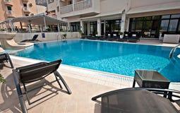 Basen luksusowej turystyki hotelowy basen Zdjęcie Stock