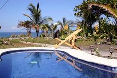 basen na plaży Obrazy Royalty Free