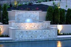 basen ogródka luksusowe wodospadu Zdjęcie Royalty Free