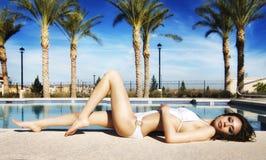 basen piękna target2221_0_ kobieta fotografia stock