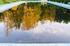 Basen podczas jesień czas Obrazy Royalty Free
