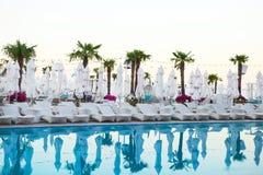 basen popływać kurortu tropikalny Fotografia Royalty Free