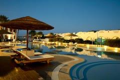 basen popływać kurortu tropikalny Obraz Royalty Free