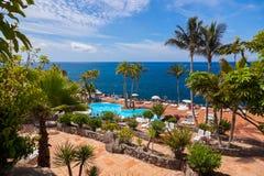 Basen przy Tenerife wyspą - kanarek obrazy stock