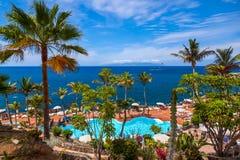 Basen przy Tenerife wyspą - Kanarek obraz stock