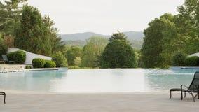Basen w halnym i lasowym terenie Hotelowy kurort dla wakacje wakacje zbiory