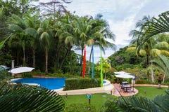 Basen w lesie tropikalnym Zdjęcie Royalty Free