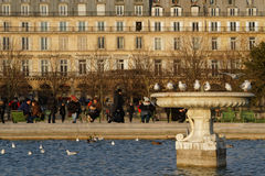 Basen w Tuileries ogródach Fotografia Stock
