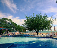 Basenu Albena plaży Bułgaria hotelowy morze Zdjęcia Royalty Free