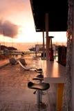 Basenu bar przy zmierzchem Zdjęcia Stock