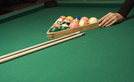Basenu (billiard) gra Fotografia Stock