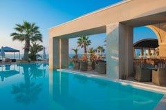 basenu hotelowy luksusowy dopłynięcie Obraz Royalty Free